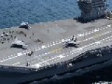 X-47B Drone Launched From USS George H. W. Bush - Aerial Footage Of Drone Launch