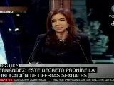 Argentina Proh&iacute Be Anuncios De Oferta Sexual