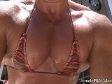 Annie Rivieccio&#039 S Crazy HUGE Pec Flexing