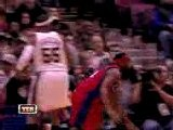 Brook Lopez Goes Up On Baron Davis And Gets The Nasty Block