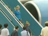 Clinton Arrives In Hanoi For ASEAN