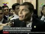 Correa Se Retira De Cumbre En Rechazo A Funcionaria Del BM Pamela Cox Que Representa Cox Para Amrica Latina