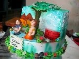 Chota Bheem Sugarcrafted Characters On Theme Cake