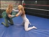 Female Pro Wrestling Match In Spandex Bodysuit FULL MATCH