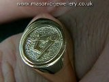 Gold Masonic Ring SAL05
