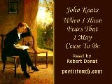 John Keats - When I Have Fears That I May Cease To Be - Robert Donat