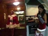 Heidi Klum And Imogen Thomas, Two Sexy Santa&#039 S