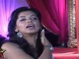 Mugdha Godse In A Transparent Saree,Playing With Her Hair
