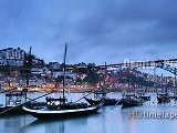 Oporto, Portugal - HD 2K 4K Time Lapse Stock Footage Royalty-Free