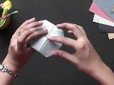 Origami In Gujarati - Make A Lotus With 4 Petals