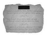 Personalized Memorial Stone: &ldquo I Thought Of You With Love&hellip &rdquo