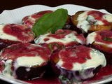 Roasted Plums With Basil Yogurt Sauce