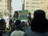 Rellen Gebouw ANC Zuid-Afrika Tijdens Verhoor