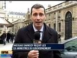 Sarkozy A Re&ccedil U Les Anciens Ministres &agrave L&rsquo Elys&eacute E