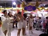 Sexy Thai Girls Dancing In A Mall