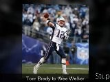 Tom Brady Pass To Wes Welker For A Tough Reception Of 42yards, New England Patriots NFL Fox