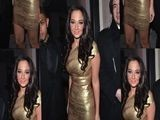 Tulisa Goes For Gold At The X Factor Wrap Party