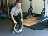 Using The Bulgarian Bag At Our Gym In Clapham