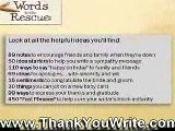 Write Thank You Notes - Sentiment Guide - Free Samples