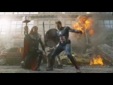 The Avengers: Los Vengadores - Escena De Batalla Capitán América Y Thor Doblado