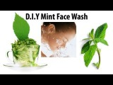 DIY Mint Face Wash For Acne Prone Oily Skin