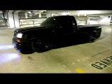 Blacked Out 2003 Chevy Silverado On Air Ride