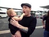Corey Taylor And My Daughter Mercy Reign Obstoy Feb 2012 Brisbane Soundwave Slipknot