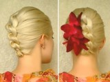 Prom Hairstyles For Medium Long Hair Tutorial Elegant Wedding Updo Hairstyles Knotted Braid