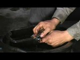 How To Change Transmission Fluid : Preparing Surface Of Transmission Drain Pan
