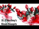 Valentine's Day DIY Hershey's Kisses Bouquets