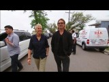 Ellen And Brad Pitt Visit The 9th Ward