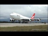 Qantas Airways Boeing 747-438 VH-OJB Ferry Flight To Victorville