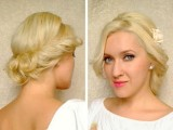 Cute Curly Updo Hairstyle For Medium Long Layered Hair Tutorial For Prom Wedding Easy