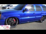 Delicious Candy Blue SMD Escalade Bagged On 26's Update 6 Blacked Out