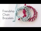 DIY Make Chain Friendship Wrap Bracelet Tutorial Stacked Bracelets