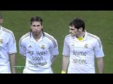 Real Madrid Wear Get Well Soon Muamba & Animo Abidal Shirts 18.3.2012