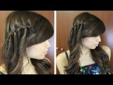 Twisted Waterfall Braid Hairstyle Hair Tutorial