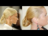 New York Fashion Week RUNWAY MODEL HAIR Carolina Herrera Show