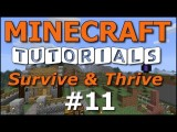 Minecraft Tutorials - E11 Cozy Cottage - Part 1 Survive And Thrive II
