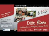 Ditto Bistro Bury - The Best Bistro In Bury