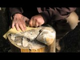 Making Simple Stone Tools From A Flint Nodule.wmv