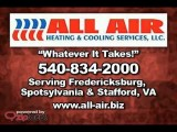 Fredericksburg HVAC Heating & Air | All Air HVAC Service | Spotsylvania Stafford County Virginia