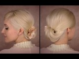 Elegant Updo For Medium Long Hair Tutorial For Work, Office Easy Spring Look Bridesmaid Hairstyle