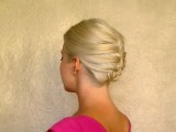 French Braid Updo Hairstyles For Short Medium Long Hair Tutorial Easy Work Office Job Interview