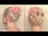 Easy Prom Updo For Long Hair Flower Bun Elegant Wedding Hairstyles Summer 2012