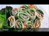 How To Make Humongous Healthy Tuna Flat Bread Sandwiches In 2 Minutes? Damascus Bakeries