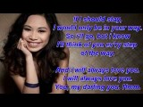 I Will Always Love You Lyrics - Jessica Sanchez
