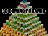 My Largest 3D Domino Pyramid 28x28 Base - 15022 Dominos