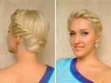 Wedding Prom Hairstyles For Medium Long Hair Crown Braid Tutorial Summer Greek Goddess Updo