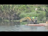 Saigon River Excavator Rowing Boat Ho Chi Minh City